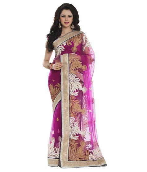 aishwarya design studio aishwarya design studio pink net kundan work saree buy