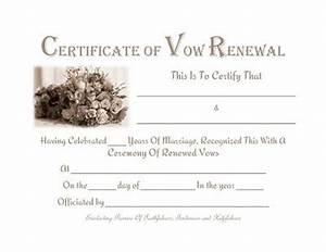 free printable vow renewal certificate prayers quotes With vow renewal certificate template