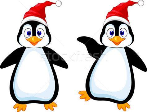 Funny Penguin Cartoon Vector Illustration © Teguh Mujiono