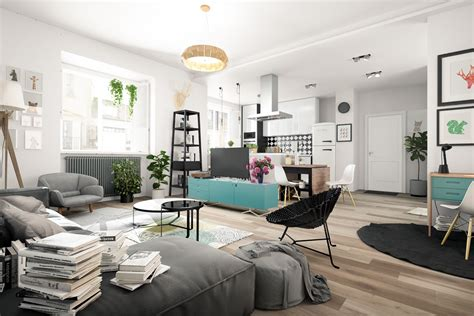 Nordic Living Room Interior Design Bring Out A Cheerful