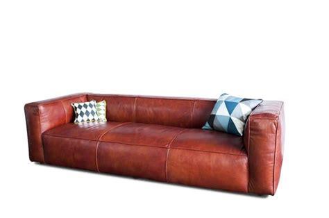 canap vintage cuir marron krieger vintage sofa upholstered grain leather pib