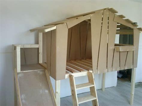 toboggan chambre lit toboggan pour enfant cabane en bois sur mesure