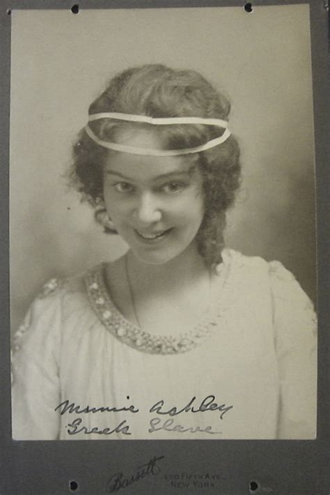 minnie ashley   greek slave broadway photographs