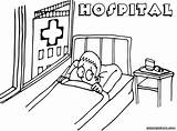 Hospital Coloring Pages Print Hospital2 sketch template