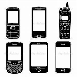 11 Phone Silhouette Vector Images - Phone Silhouette Clip ...