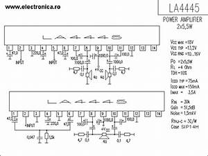 La4445 Power Audio Amplifier Schematic