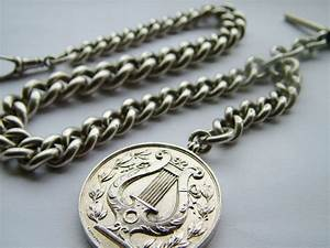 Heavy Antique Silver Pocket Watch Chain | 317164 ...