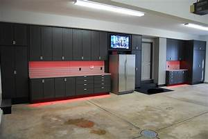 Garage cabinets and storage systems for Best brand of paint for kitchen cabinets with metal disc wall art