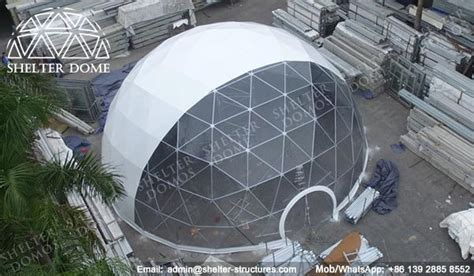 cupola structure half clear steel frame dome corporate event dome
