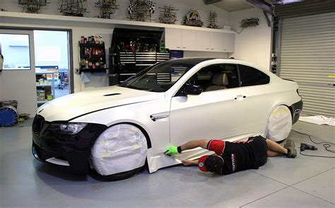 bmw   wrapped   satin pearl white ultimate car