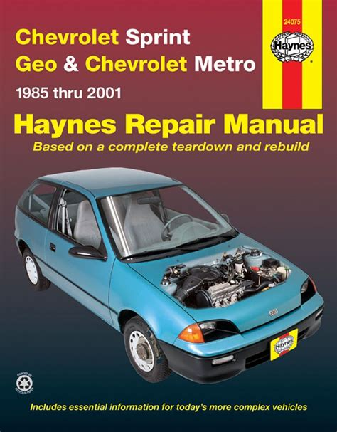 old cars and repair manuals free 2001 chevrolet express 2500 seat position control haynes publications 24075 repair manual chevy sprint geo metro 1985 2001 haynespublications