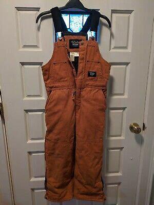 walls blizzard pruf insulated canvas coveralls bib overalls boys youth large ebay