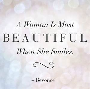 #Beauty quotes! A women is most beautiful when she smiles ...