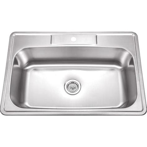 top mount single bowl kitchen sink 33 inch stainless steel top mount drop in single bowl 9486