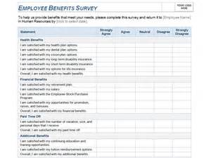 Survey Template Excel Employee Benefits Survey Template