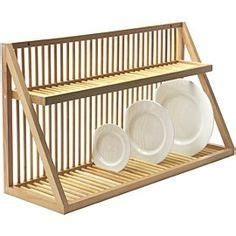 nice dish rack   sink wall mounted wooden plate rack large amazoncouk kitchen