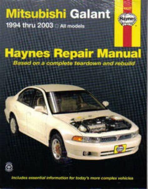 auto repair manual online 1995 mitsubishi galant parking system haynes mitsubishi galant 1994 2010 auto repair manual