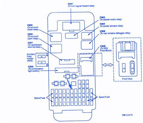 honda prelude vtec blower 1999 fuse box block circuit