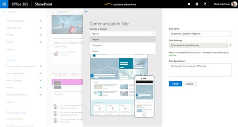 turn on sharepoint online site templates reach your audience via sharepoint communication sites in