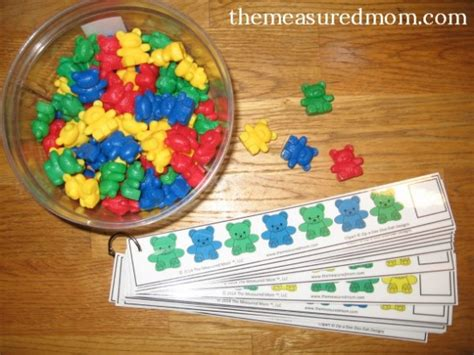 15 simple ways to teach patterns to preschoolers the 902 | coin pattern strips1