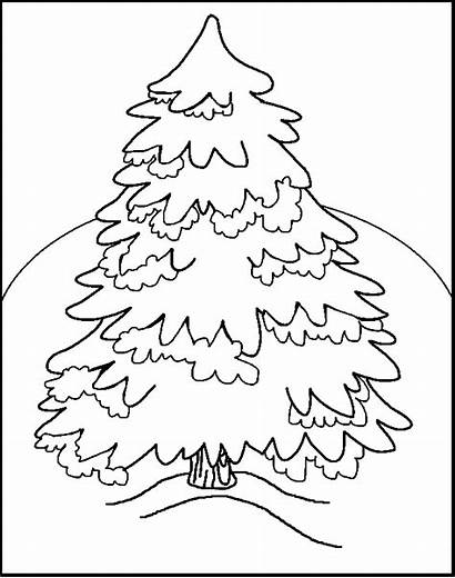 Coloring Tree Christmas Pages Trees Printable Xmas