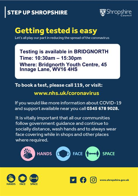 Coronavirus: Testing available in Bridgnorth from today ...