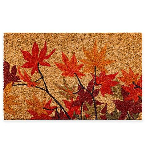 Autumn Doormat by Fall Leaves 18 Inch X 28 Inch Door Mat Bed Bath Beyond