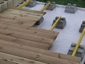 Support Terrasse Bois : plot de support en b ton 25 x 21 x 15 cm pour terrasse en ~ Premium-room.com Idées de Décoration