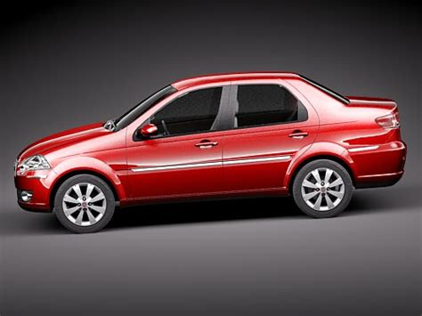 Fiat New Models by Fiat New Siena 2009 3d Model Max 3ds Cgtrader
