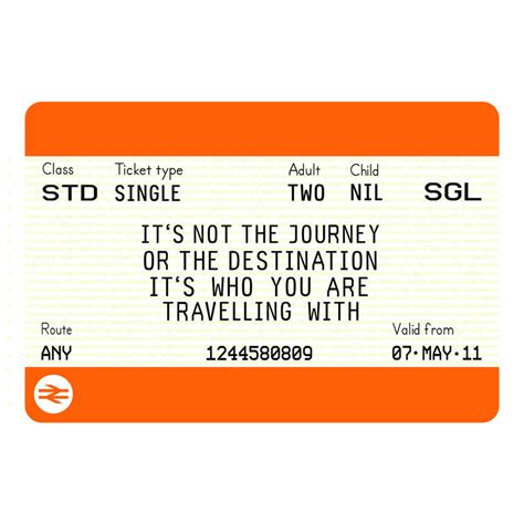 Personalised Train Ticket Print By Of Life & Lemons