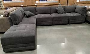 6 piece modular fabric sectional in dark gray from costco With 6 piece modular sectional sofa costco