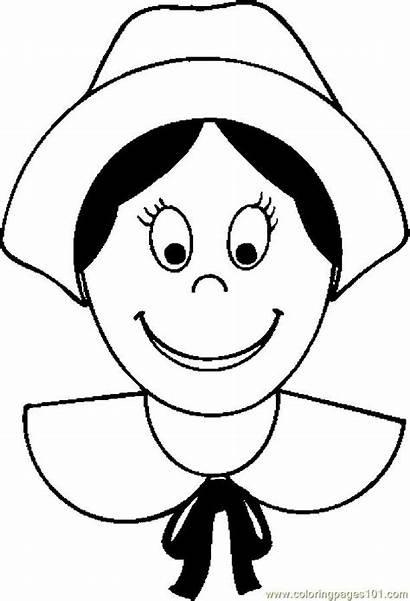 Woman Pilgrim Coloring Pages Thanksgiving Coloringpages101
