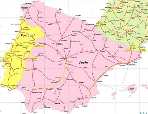 Carte Portugal Espagne by Spain Portugal Pass