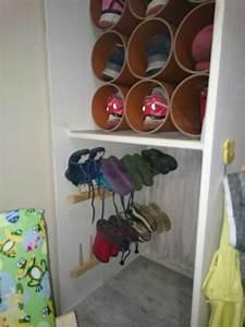 Garderobe Für Kinder : schuhschrank f r kleine kinderschuhe kinder garderobe aus einem heurechen selbst gemacht ~ Frokenaadalensverden.com Haus und Dekorationen