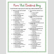 Printable Christmas Song Trivia  Christmas  Pinterest  Trivia, Songs And Gaming