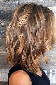 Balayage Brown Hair Color with Caramel Highlights