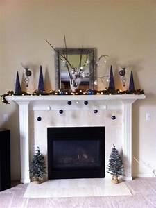 My, Christmas, Mantle, Blue, White, U0026, Silver