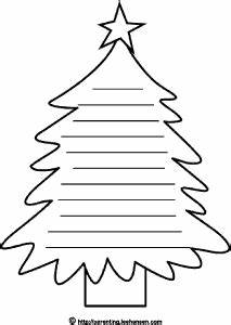 christmas tree shape page lined writing paper coloring sheet With christmas tree shape poem template