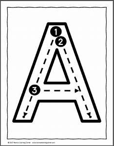 Block Letter Styles Letter Formation Cards For Preschool And Kindergarten