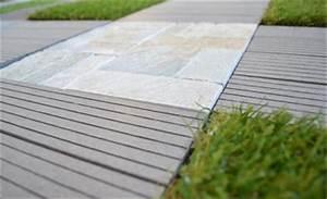 Dalle Bois 100x100 Castorama : terrasse bois composite clipsable ~ Melissatoandfro.com Idées de Décoration