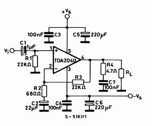 amplifiercircuitscom tda2040 With circuits gt 400 w mosfet audio amplifier circuit using irfp448 diagram
