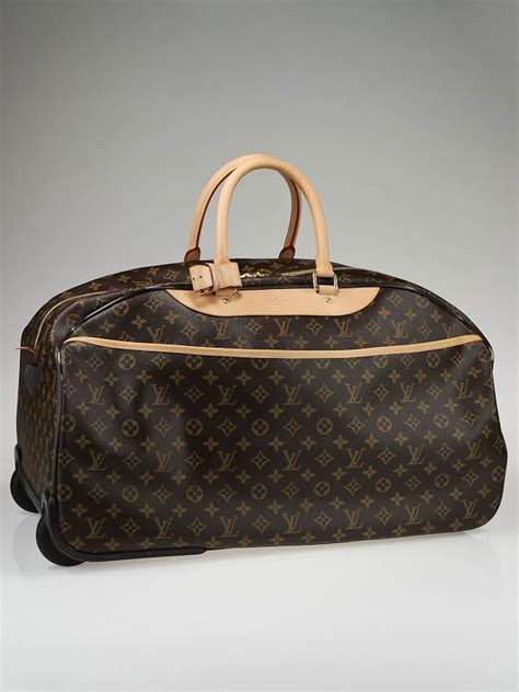 louis vuitton monogram canvas eloe  rolling duffle bag