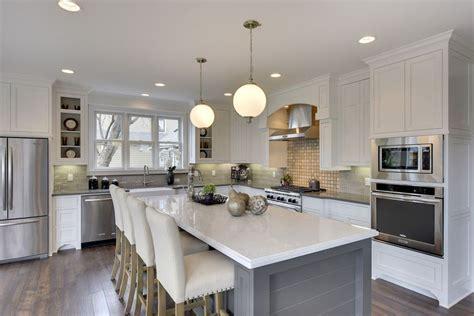 white kitchen gray island 30 gray and white kitchen ideas designing idea 1380
