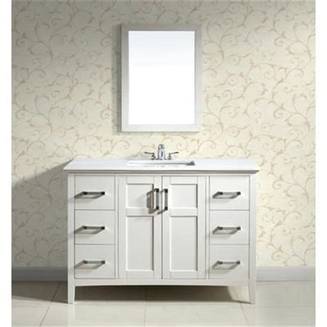 home depot bathroom vanities 42 inch simpli home winston 48 inch white vanity with white