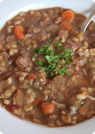 slow cooker beef barley soup delicious  cooking