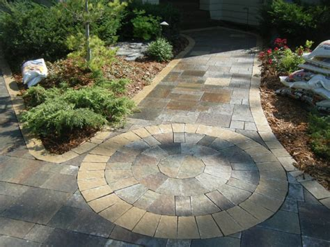 sidewalk paver designs walkways