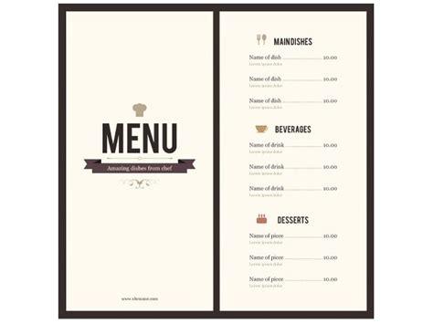 8 menu templates excel pdf formats