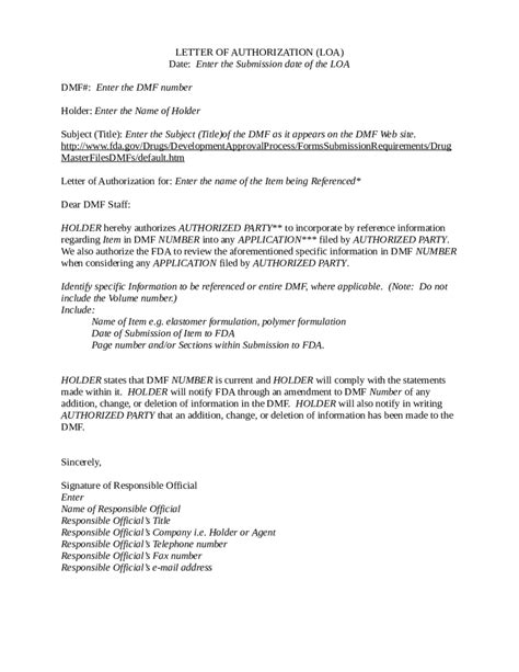letter  authorization loa   customer edit