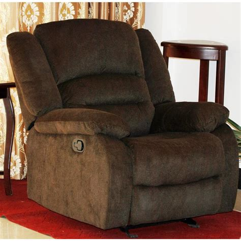 contemporary microfiber recliner chair brown
