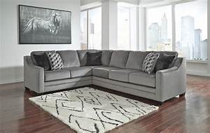 Bicknell charcoal sectional sofa by ashley furniture 86204 for L sectionals couch ashley furniture